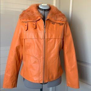 Vintage Wilson Leather & Fur Jacket